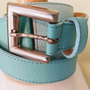 Turquoise Leatherock leather belt